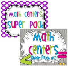 Little Minds at Work: Kindergarten Math Centers  Great resource for math centers!!!