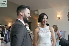 The bride & groom during their ceremony. Weddings at Tulfarris Hotel & Golf Resort. Photographed by Couple Photography.