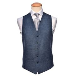 A Blue Tweed Herringbone suit, available with matching waistcoat. This stunning 3 piece suit is the perfect alternate option for the fashion conscious groom. Quality Tweed cloth Fitted design Available in adult sizes< Wedding Suit Hire, Tweed Wedding Suits, Tweed Suits, Navy Blue Vest, Blue Vests, Blue Grey, Herringbone Suit, Dapper Suits, Tweed Waistcoat