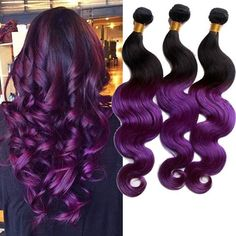purple color,so nice! virgin human hair extensions