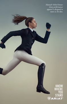 """Leading equestrian brand Ariat has just released their """"Know Where You Stand"""" campaign featuring show jumping riders Hannah Selleck and Beezie Madden. Check out these photo shoot shots… Women's Equestrian, Equestrian Outfits, Equestrian Fashion, Horse Riding, Riding Boots, Riding Habit, Horse Fashion, Normcore, Stylish Girl Pic"""