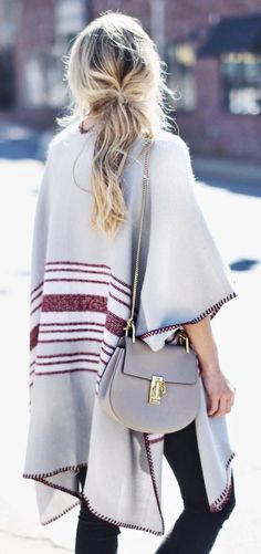 We love Ponchos for fall.