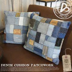 【楽天市場】DENIM CUSHION PATCHWORK(デニムクッションパッチワーク) 45×45 クッション 070490:家具・インテリア・雑貨 ビカーサ5,775