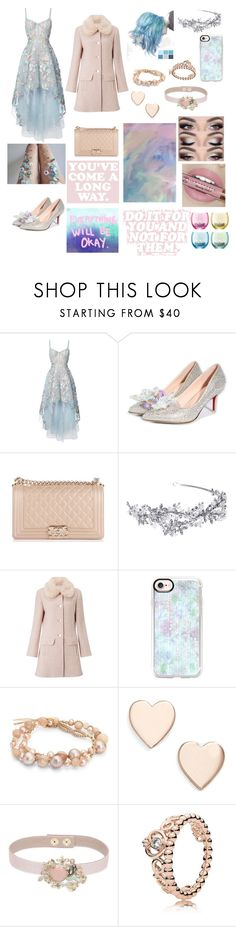 """""""His Queen"""" by sweetheart-the-moonbear ❤ liked on Polyvore featuring Notte by Marchesa, Chanel, Miss Selfridge, Casetify, Chan Luu, Poppy Finch, RED Valentino, Pandora and LSA International"""