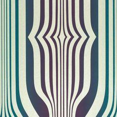Concord Wallpaper Plum/Teal (DVIWCO106) - Sanderson Vintage Wallpapers Collection