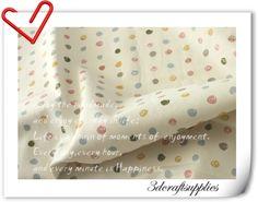Tissus à pois, blanc Des points de couleur Tissus à motifs 335 est une création orginale de 3Dcraftsupplies sur DaWanda