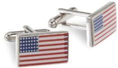 Mens American Flag Cufflinks by Cufflinks.com