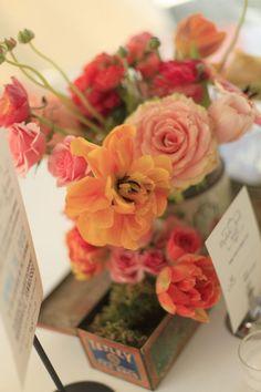 Peach and coral by Cedarwood Weddings