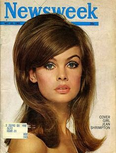 1960's. Hello Gorgeous!  This is the look for spring! Lots of lift and expansion at the root and heavy socket lines for makeup. Put away your flatirons girls and pick up that curling iron!