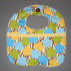 As promised ... here is a free tutorial for this baby bib.  Make as many as you like, but please don't sell bibs made with this pattern! Tha...