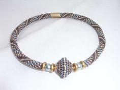 bluepearls Perlen: Häkelkette