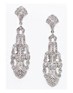 Anna Bellagio GILDA ART-DECO STATEMENT EARRINGS Wedding Jewelry - The Knot  Orecchini Di Nozze 125558f21164