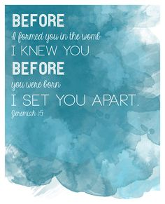 Bible verse quote Jeremiah 15 for nursery baby by EverydayATLAS, $19.00