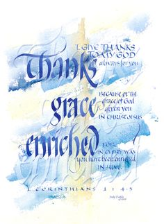 Thanks Grace ~::~ Judy Dodds, Penscriptions Calligraphy