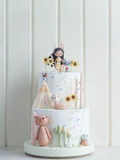 Pocahontas Cake - so precious! Pocahontas Cake, Pocahontas Birthday Party, Disney Princess Party, Bithday Cake, 4th Birthday Cakes, Girl Birthday, Girly Cakes, Cute Cakes, Sugar Cake