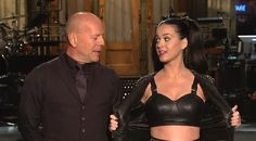 Katy Perry flashes Bruce Willis some skin in 'Saturday Night Live' promo (Video)