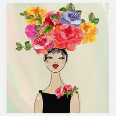 Flowerhead 3 9x12  now featured on Fab.