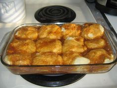 Currently in the fridge for Sunday Breakfast... Lazy Caramel Rolls 20-24 frozen dinner rolls   1 stick butter   ¾ cup brown sugar   3 ounces cook and serve butterscotch pudding mix     Night before: Place frozen rolls in greased 9x13 pan. Heat butter and brown sugar until melted. Add pudding mix and stir well. Pour pudding mixture evenly over rolls. Cover with lid or greased plastic wrap. Let rise overnight. Bake 350 for 20-30 min.