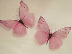 4 Sparkling Pink Girls Fairy Dust Bedroom 3d Flying Butterfly Accessories on Etsy, $8.00
