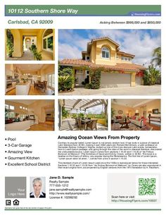 Real Estate Flyer with 6 Photos. Customize this Flyer with Your Info.
