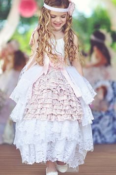 Victorian Princess Dress/Tea Party Dress/Flower girl by RainRene, $325.00