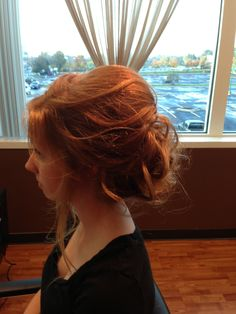 Messy updo glimmer salon  hey that's meee.