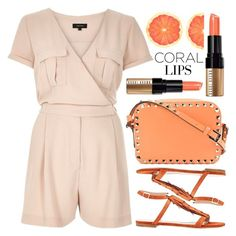 """Spring Beauty: Corals"" by alaria ❤ liked on Polyvore featuring beauty, River Island, Chloé, Valentino, Bobbi Brown Cosmetics, CoralLips and coolcorals"