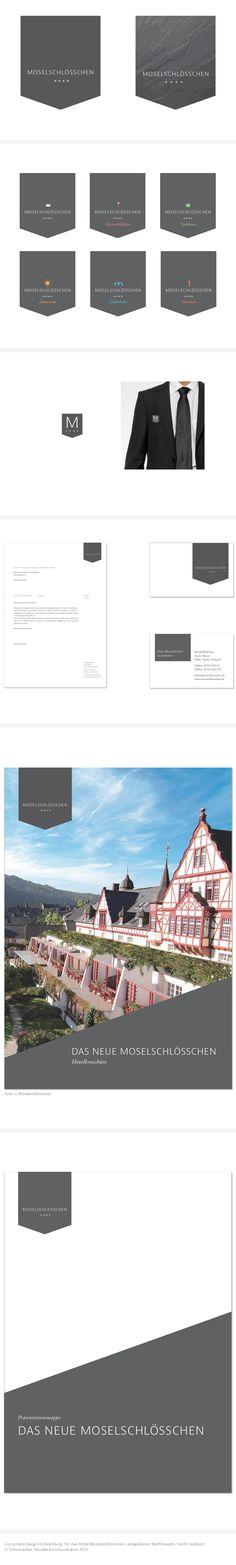 Corporate Design für das Hotel Moselschlösschen, eingeladener Wettbewerb, nicht realisiert. #corporatedesign #logo