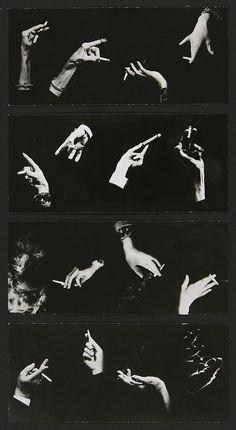 Pierre Gassmann - Hommage à Man Ray, Mains à la cigarette, ca. 1940