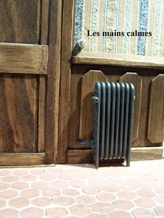 Radiator - popsicle sticks painted silver