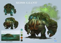 design for last project----<龙骑战歌>[moss giant], Xuexiang Zhang on ArtStation at https://www.artstation.com/artwork/WGzmX