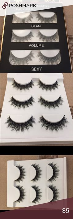 Mink Lashes ON SALE!!   NEW in box   - 1 x 3 pair pack package  - Approx length: 5mm x 7mm x 5mm  - No brand / no model number  * Offers welcome* No brand Makeup False Eyelashes