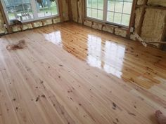 """Alabama Heart Pine Flooring from Southern Wood Specialties in Flomaton, AL. This is a """"new heart"""" that usually sells around $3 per sq ft unfinished. P: 251-296-2556 Heart Pine Flooring, Pine Floors, Hardwood Floors, Log Cabin Siding, Alabama, Tiny House, Kitchen Ideas, Southern, Wood Floor Tiles"""