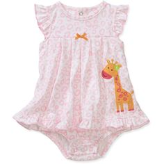 Child of Mine by Carters Newborn Girls' Animal Print Sunsuit