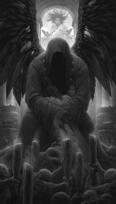 rejected by alexey egorov Spectrum The Best in Contemporary Fantastic Art Dark Fantasy Art, Fantasy Kunst, Ange Demon, Demon Art, Archangel Tattoo, Grim Reaper Art, Angel Artwork, Beautiful Dark Art, Angel Of Death