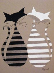 Abstract Cats - El Gato Gomez and like OMG! get some yourself some pawtastic adorable cat apparel! Tap the link for an awesome selection cat and kitten products for your feline companion! Photo Chat, Cat Quilt, Cat Crafts, Cat Drawing, Crazy Cats, Cat Art, Cats And Kittens, Quilt Patterns, Art Projects