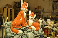 The fox Vuk and his foxy girl:)It's a Hungarian fairy tale...
