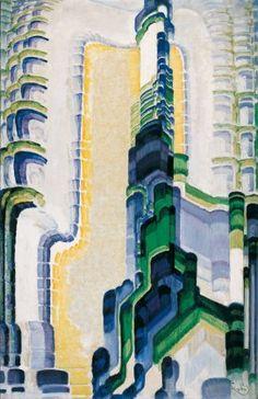 Frantisek Kupka. Green and Blue