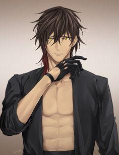 Anime and fan arts Hot Anime Boy, Anime Sexy, Cute Anime Guys, Anime Boys, Touken Ranbu, Anime Guys Shirtless, Handsome Anime Guys, Demon Manga, Anime Hairstyles Male