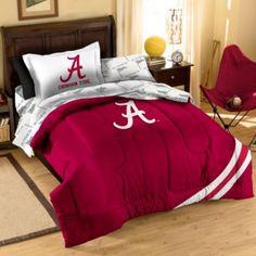 Alabama Crimson Tide Twin Applique Bedding Set - BedBathandBeyond.com Boys' Roll Tide Room