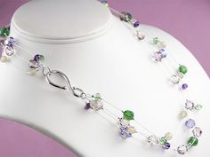 Free Ideas: Artbeads.com - Katie's Sparkling Illusion Necklace