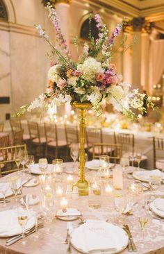 Photographer: Sincereli; Wedding reception centerpiece idea
