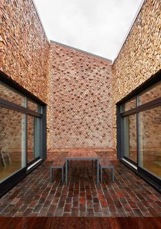 Located in Larvik, Norway, ZEB Pilot House is a Zero Emission Building designed by Snøhetta Architecture and Design. Plus House Larvik is . Brick Architecture, Interior Architecture, Interior Design, Brick Detail, Vejle, Brick Facade, Brick Design, Brick And Stone, Brickwork