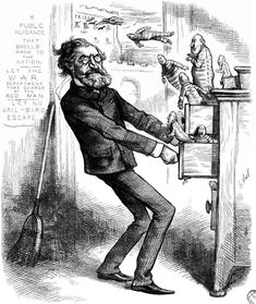 Political cartoons regarding Schurz and the corruption at the Indian Bureau are shown above. Description from nativeamericannetroots.net. I searched for this on bing.com/images
