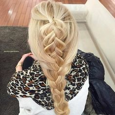 Dutch braid into French combo