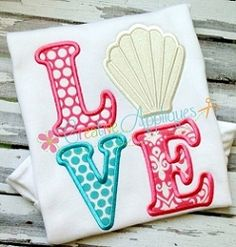 Love Seashell Applique - 4 Sizes! | What's New | Machine Embroidery Designs | SWAKembroidery.com Creative Appliques