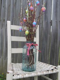 this would look great with the twigs that light up - available at hobby lobby - with cherry blossoms!
