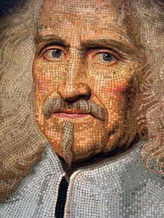 Portrait of Camillo Rospigliosi (detail)/ Giovanni Battista, Mosaic. Tile Art, Mosaic Art, Mosaic Glass, Mosaic Tiles, Mosaic Mirrors, Mosaic Crafts, Mosaic Projects, Mosaic Portrait, Mosaic Madness