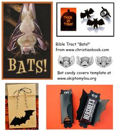 Bat Template, Cover Template, Templates, Bible Tracts, Halloween Candy Bar, Hershey Chocolate, Bats, Trick Or Treat, Pdf