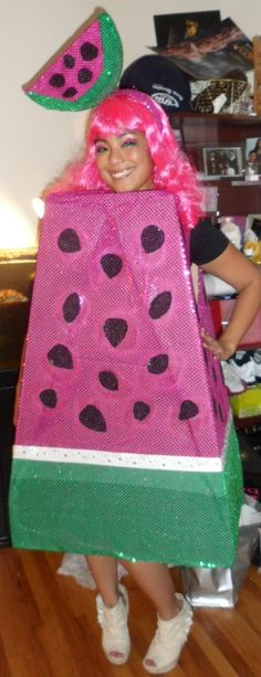 Women/'s 5 A Day Water Melon Fruit Fancy Dress Costume Hen Night Tropical Theme